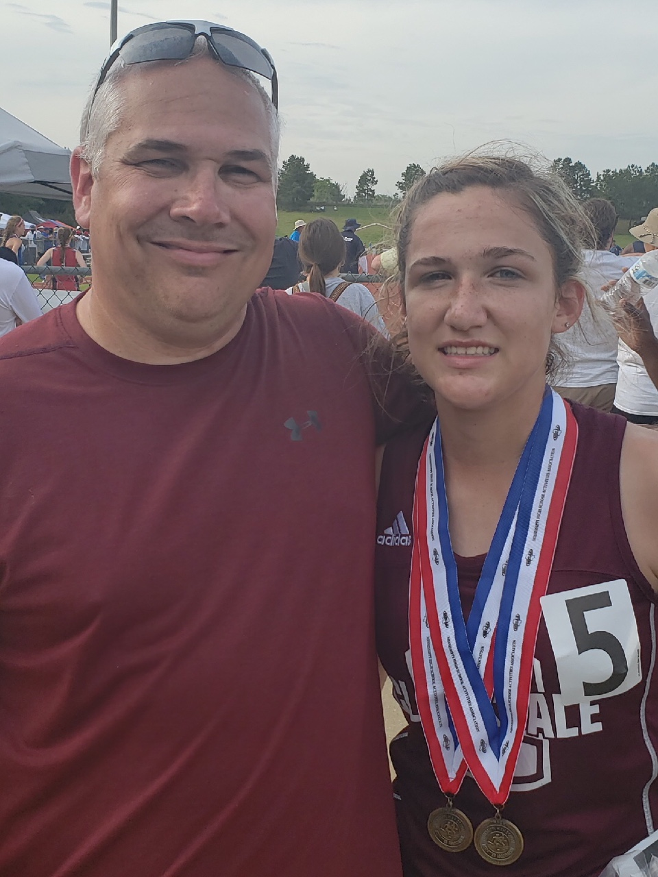 Brooke Robinson and Coach Roy