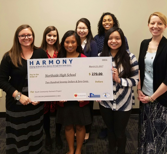 NHS Science Club receives grant from HARMONY
