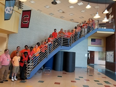 Supporting Unity Day - Staff and Students Wearing Orange Shirts