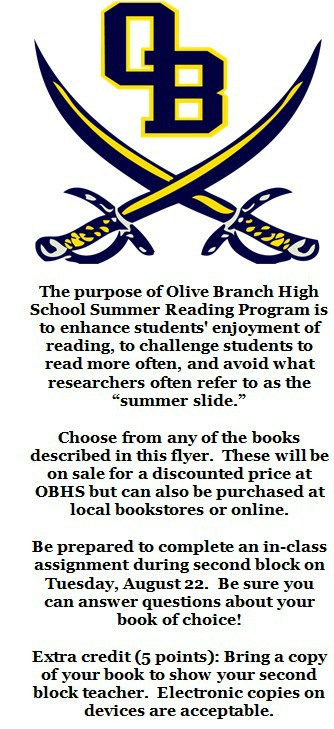 Purpose and instructions for Summer Reading