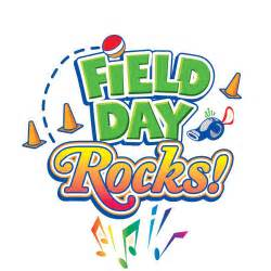 cartoon image that says 'Field Day Rocks!'
