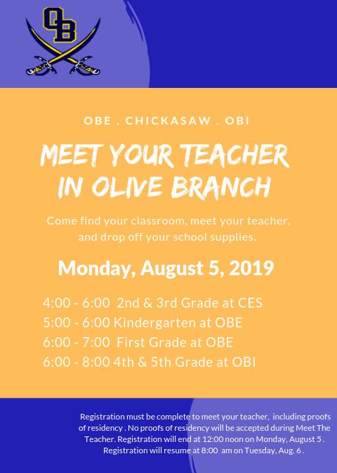 OB Meet Your Teacher Flyer
