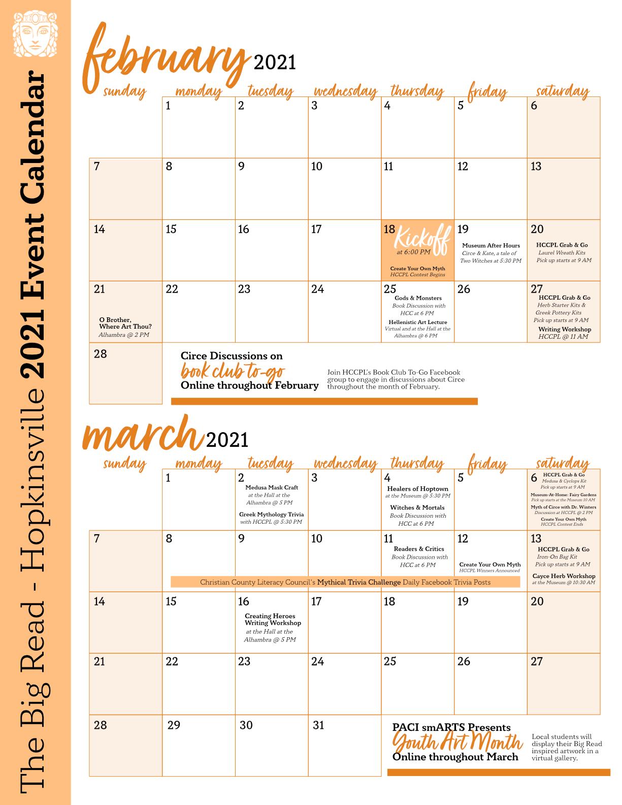 Big Read Calendar