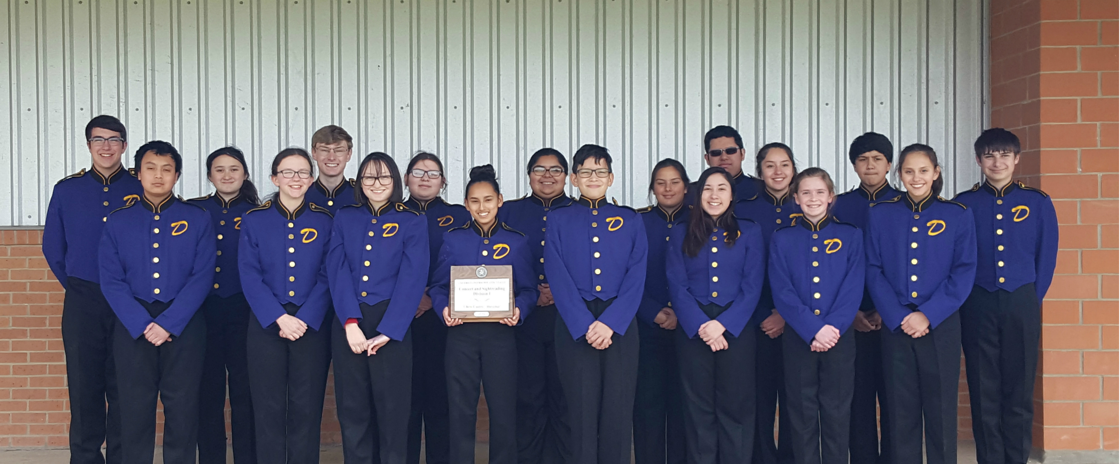 D'Hanis Pride Band Receives Division 1