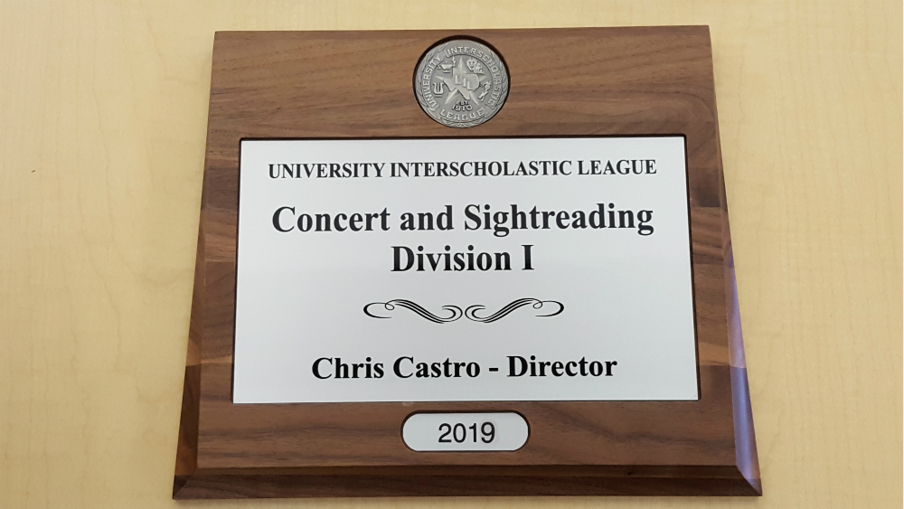 UIL Plaque