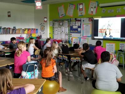 4th Grade Video Conference