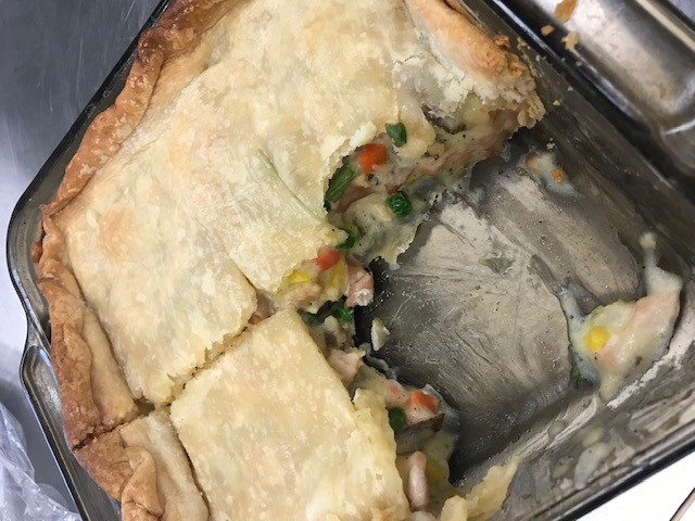 FCS Culinary classes made chicken pot pies