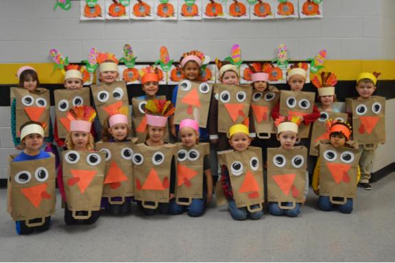 PreK Dressed up for Thanksgiving