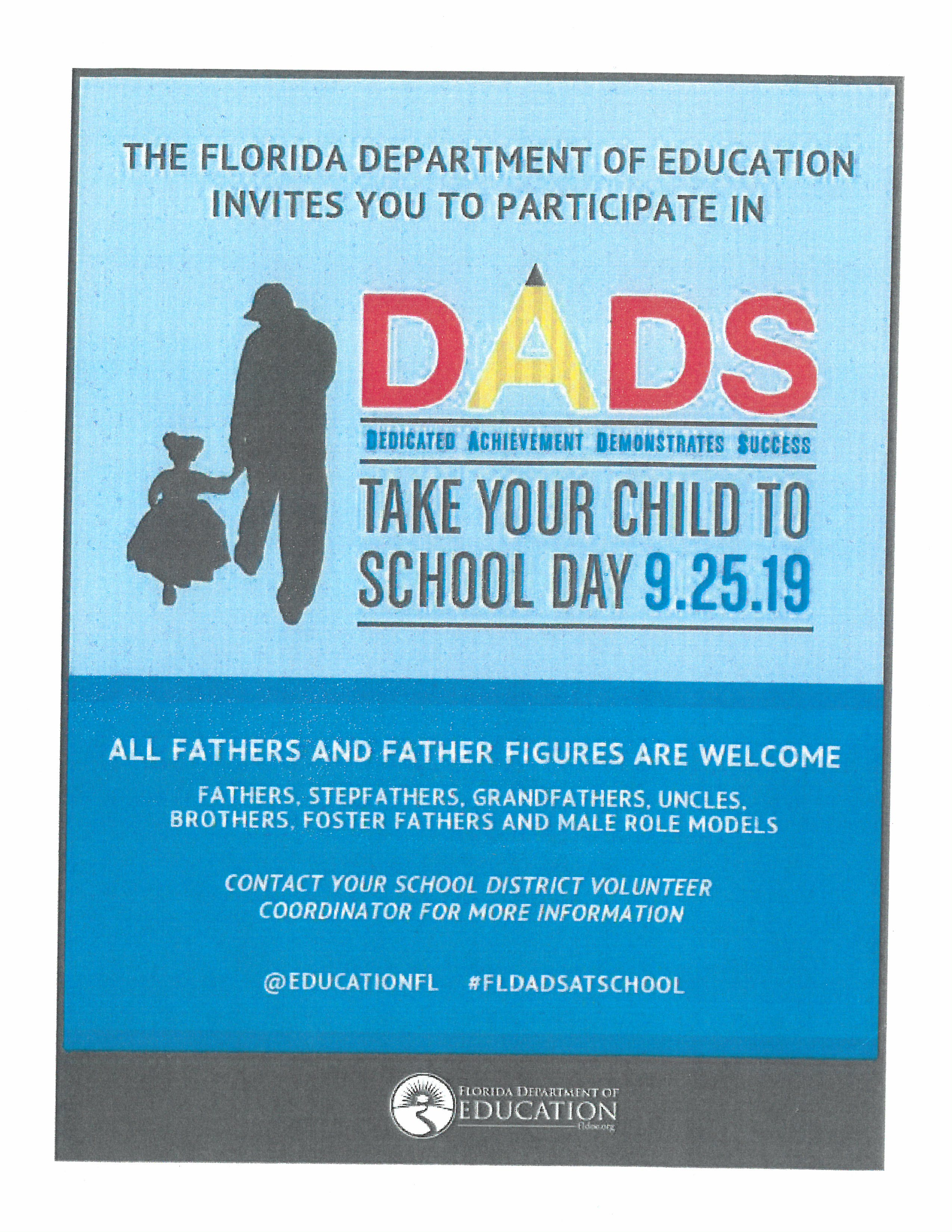 DADS TAKE YOUR CHILD TO SCHOOL
