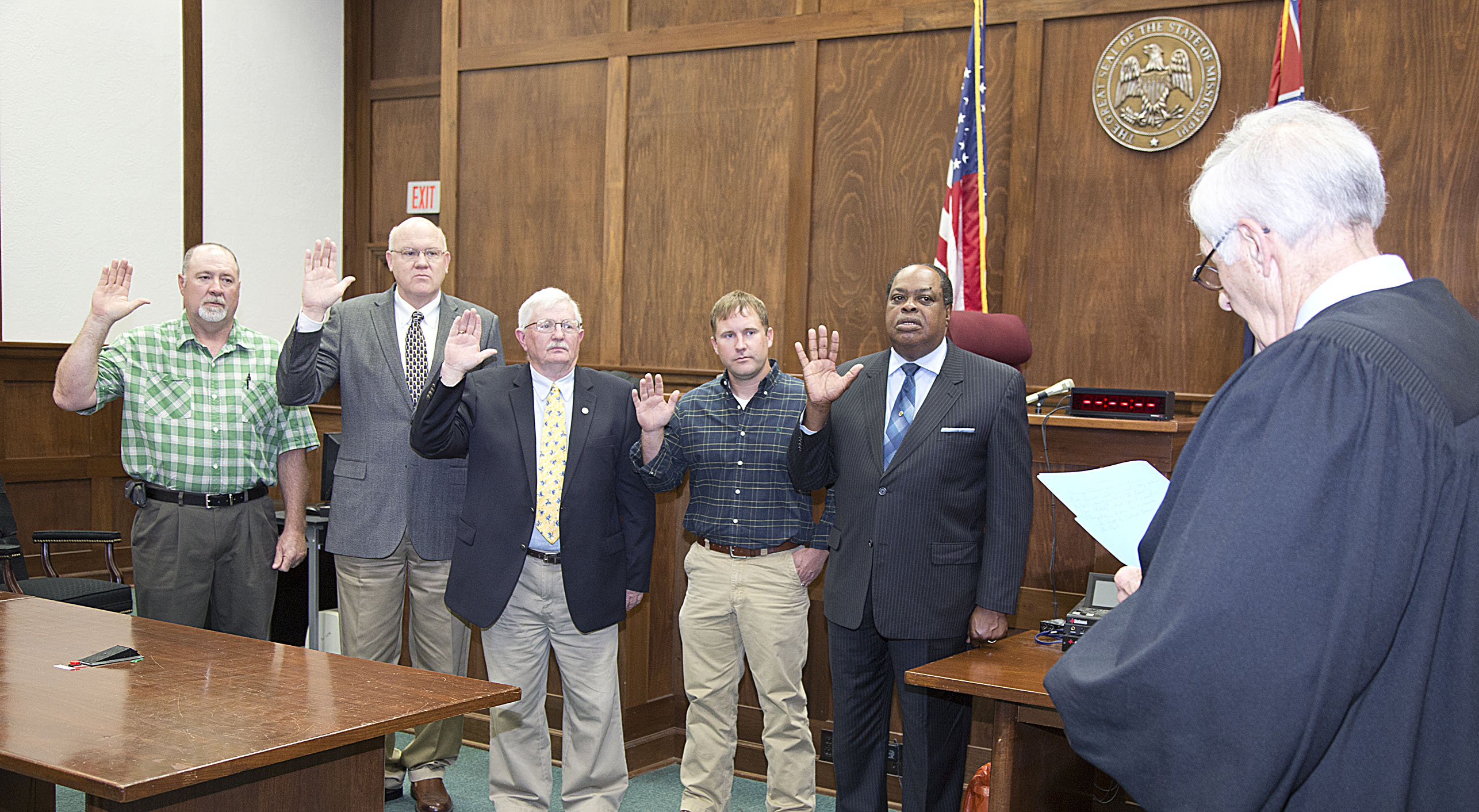 Mississippi scott county sebastopol - Scsd Board Members Taking The Oath Of Office From Judge Vernon R Cotton April 21 2015