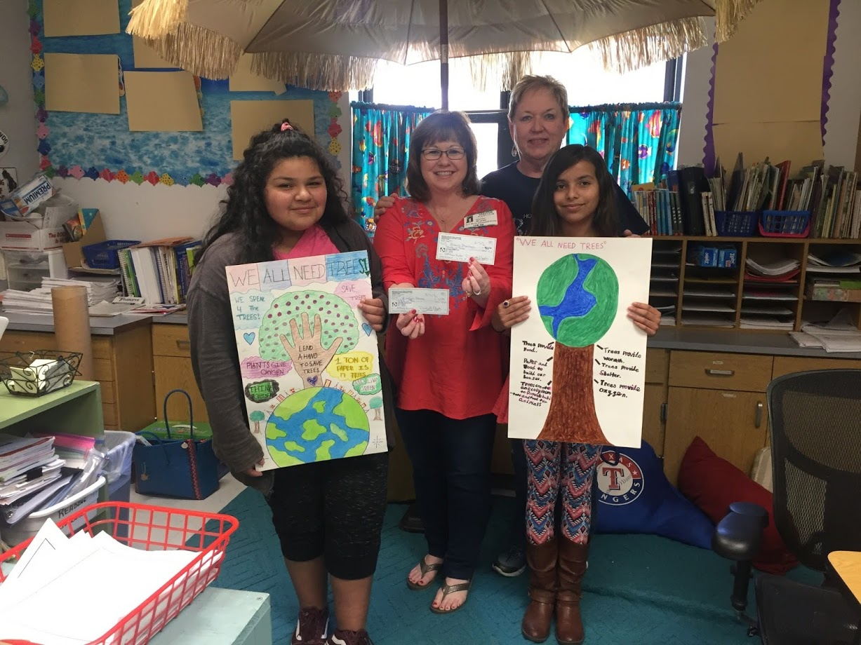 Winners of the Medina Valley Soil and Water Conservation Poster Contest.