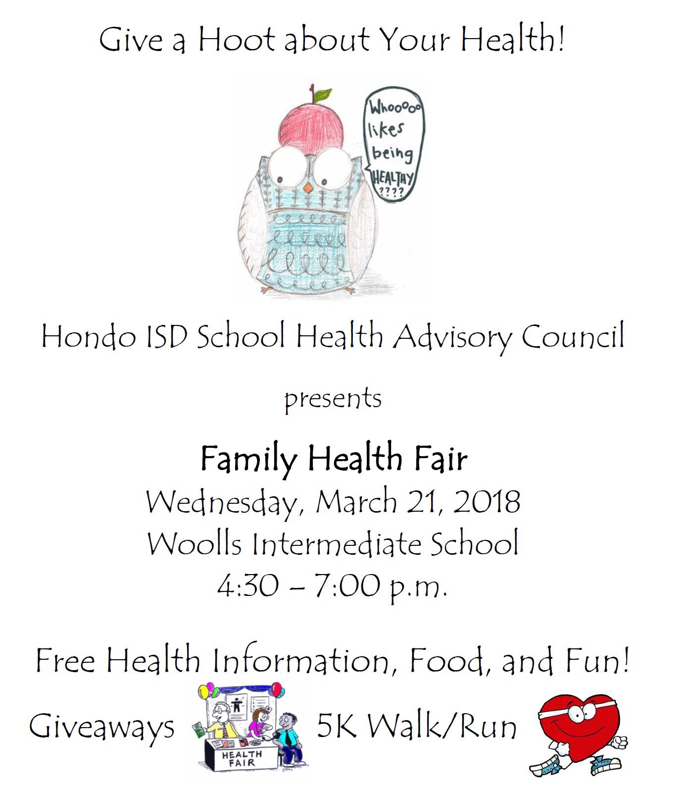 Hondo ISD Health Fair