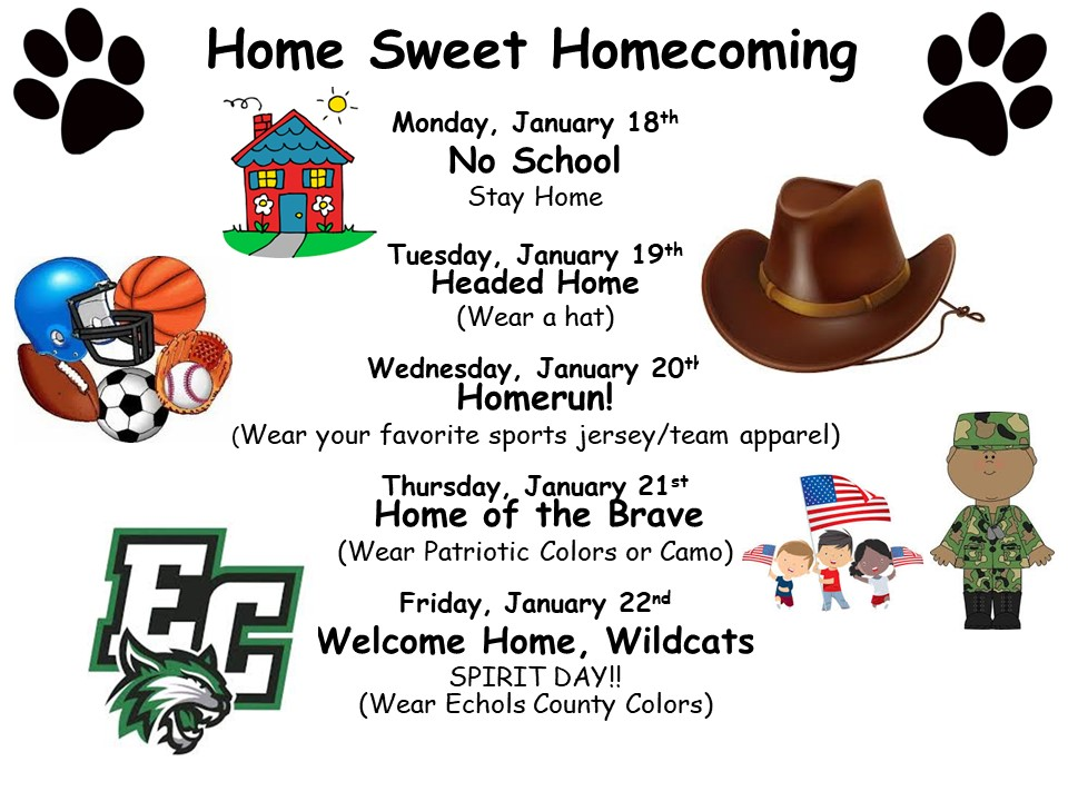 Homecoming Spirit Week Poster