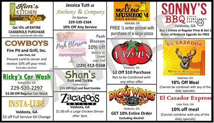 2018 Discount Card Back
