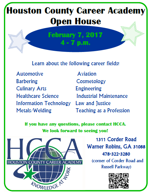Houston County Career Academy Open House February 7