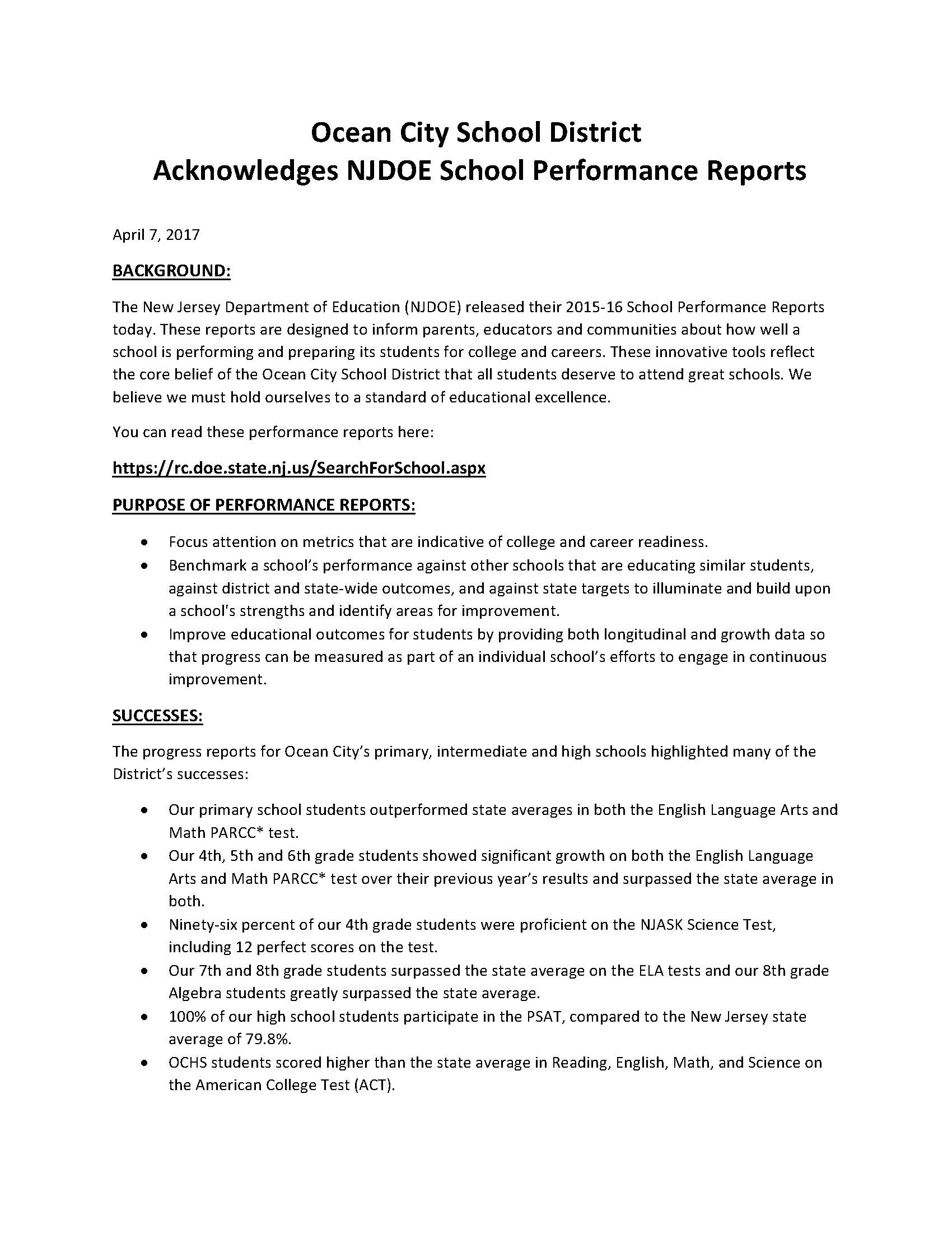 Ocean city intermediate school latest news ocean city school ocean city intermediate school latest news ocean city school district acknowledges njdoe school 1betcityfo Images