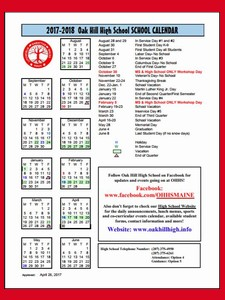 RSU #4 OHHS Calendar
