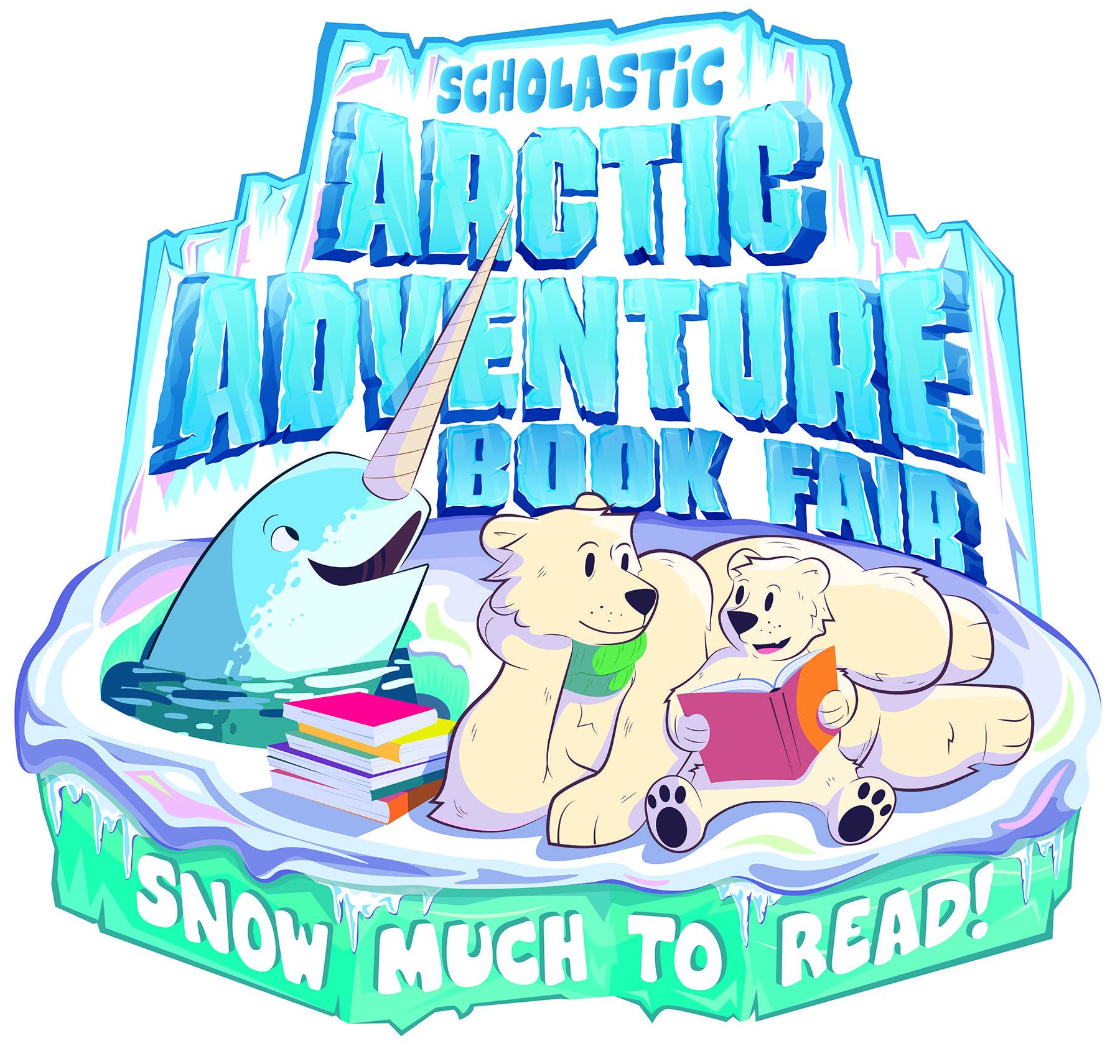 Logo for the Arctic Adventure Book Fair