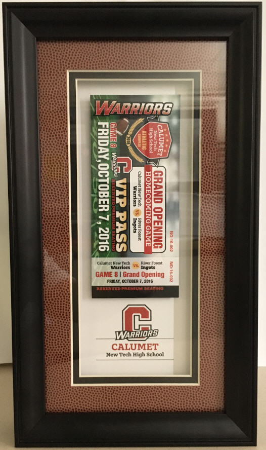 Limited Edition Framed Ticket Football Skin Frame with Ticket $159.99