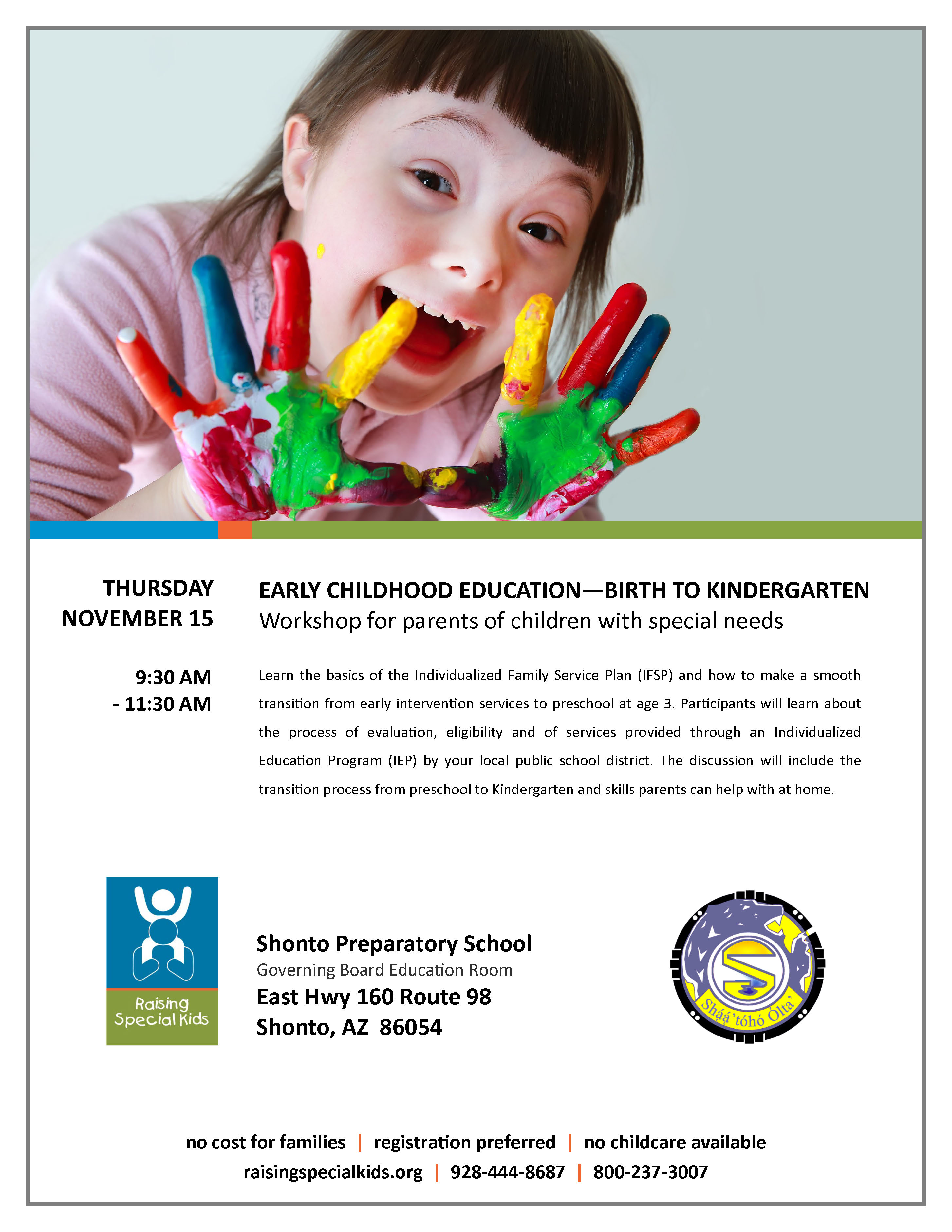 Shonto Preparatory School Early Childhood Education Workshop