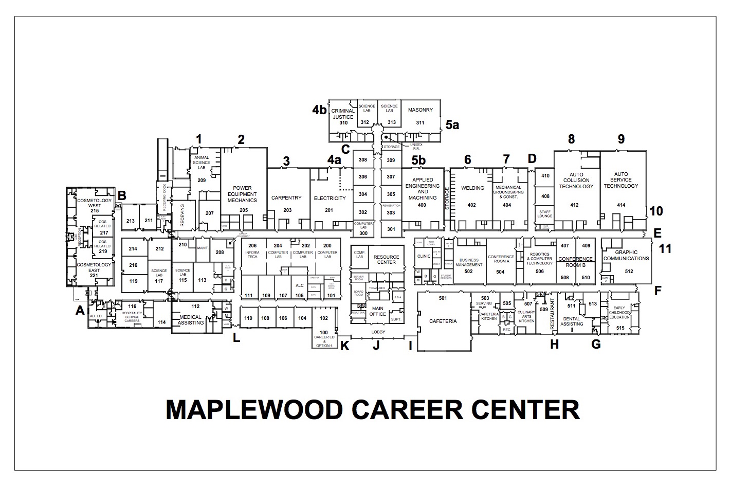 Maplewood Career Center Map