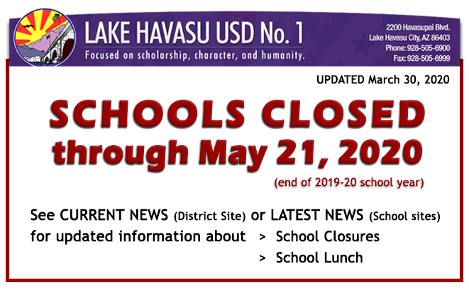 ALERT: Schools Closed through end of school year