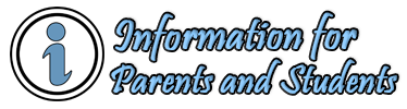 Information for Parents and Students banner