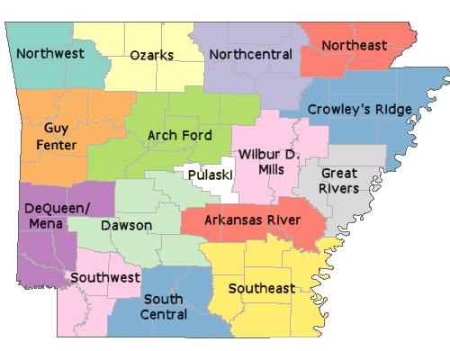 Arkansas Cooperatives Map