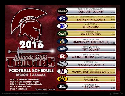 2016 Football Schedule