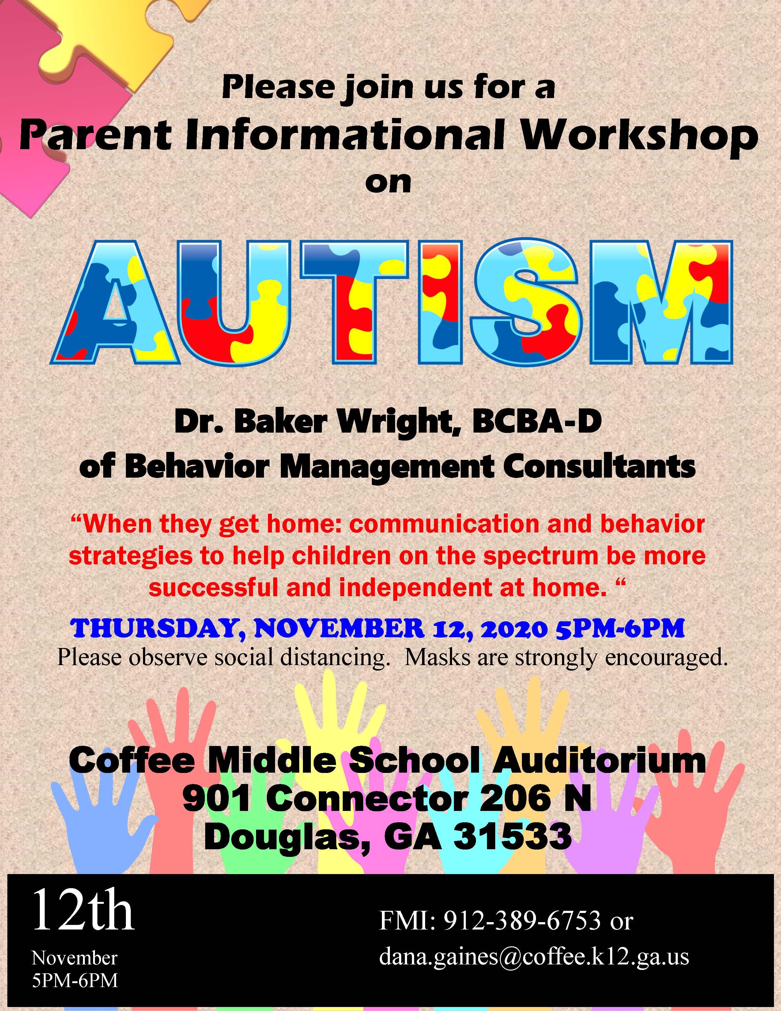 Autism Workshop November 12