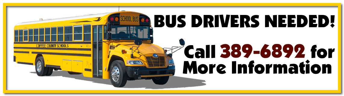 Bus Drivers Needed - Call 389-6892