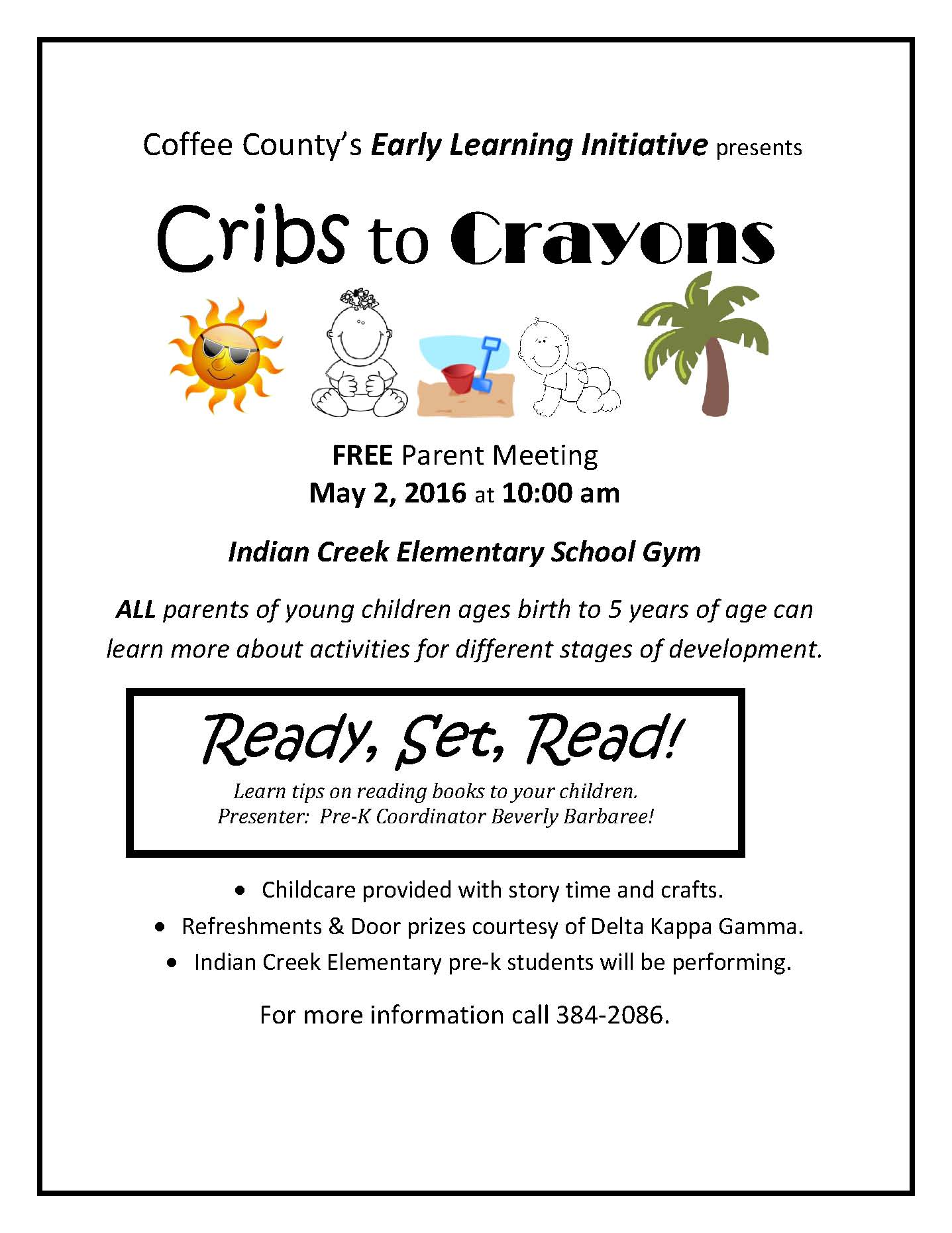 Coffee County School System - Cribs to Crayons Parent Meeting