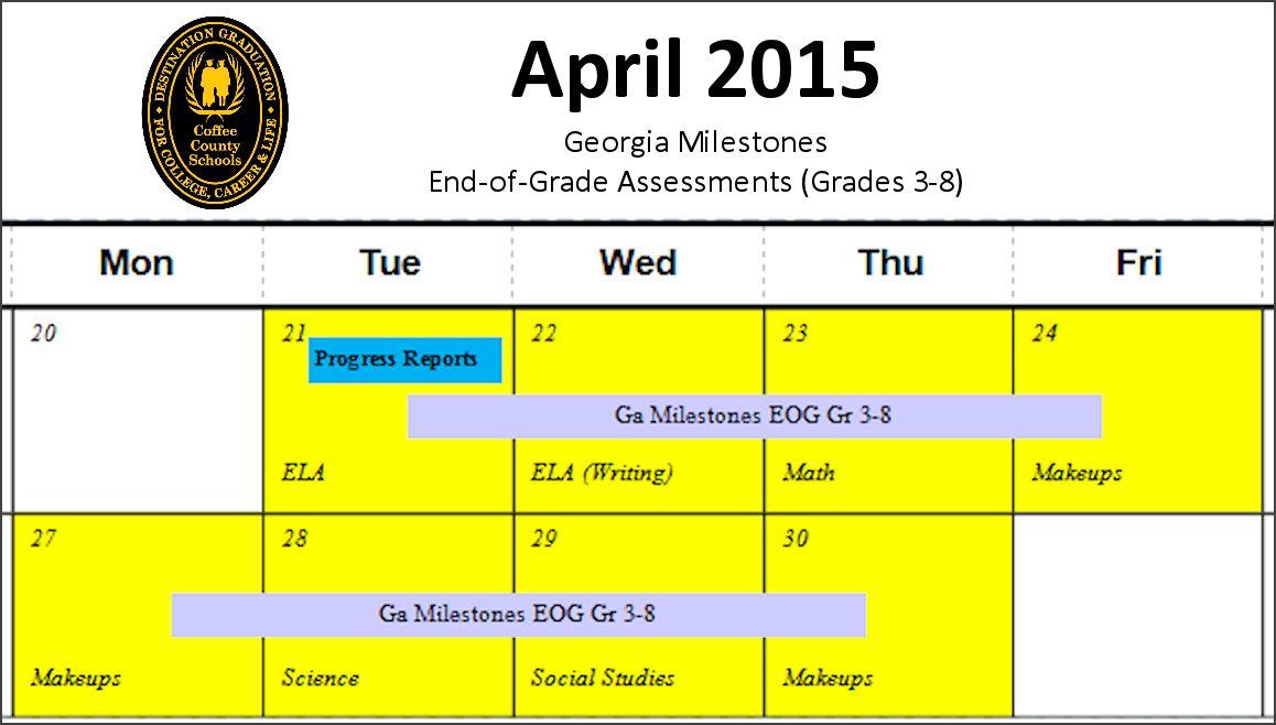 EOG Schedule 2015