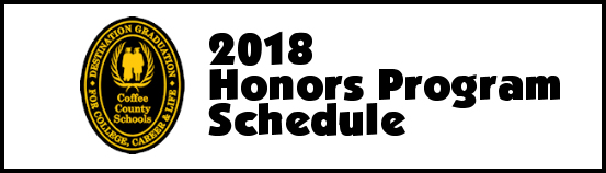 2018 Honors Program Schedule