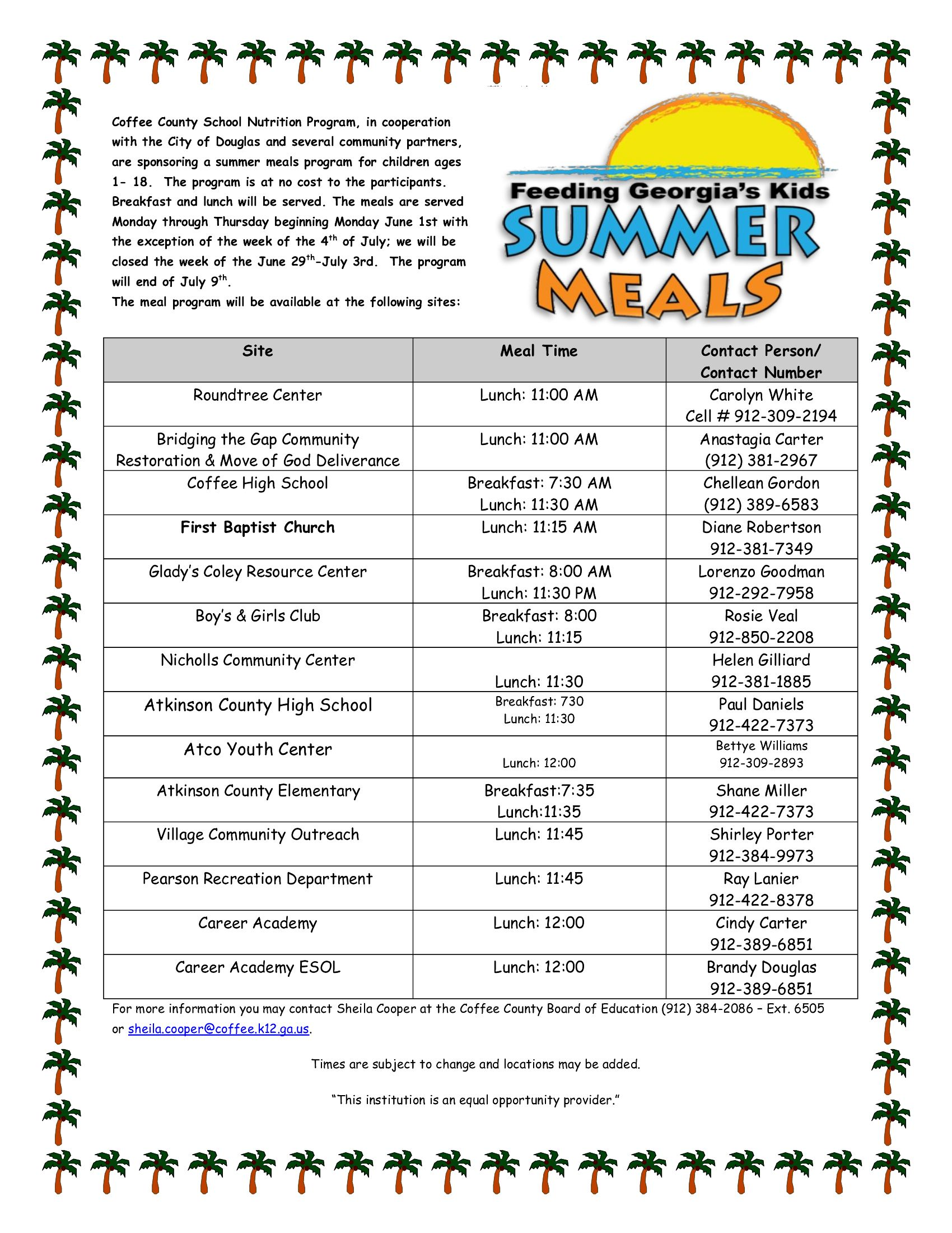Summer Meals 2015