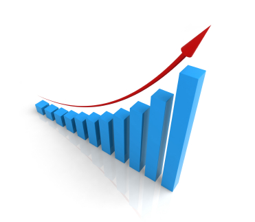 decorative image of upward trending graph