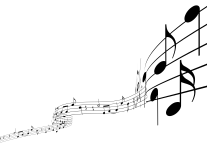 decorative image of musical notes