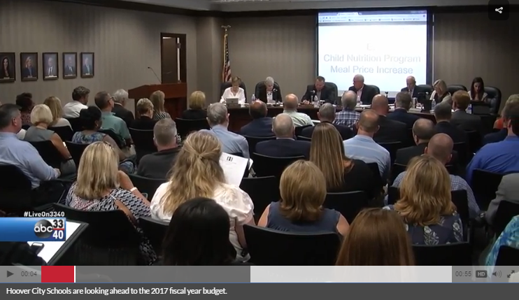 ABC 3340 screenshot of Hoover budget hearing