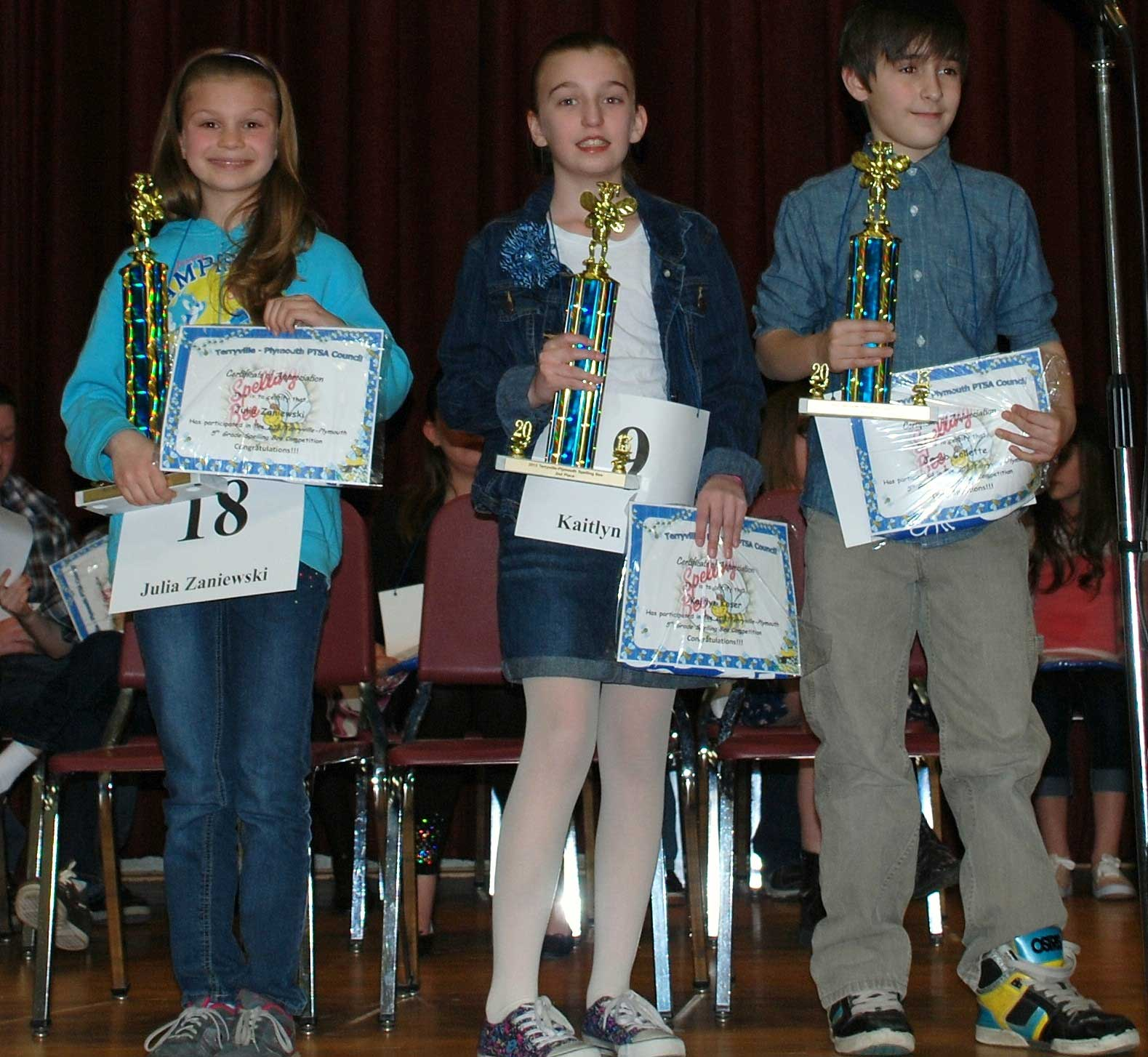 Annual Grade 5 Spelling Bee Winners