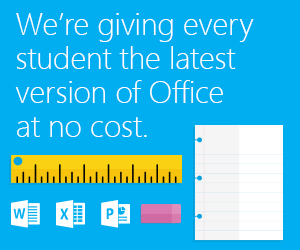 Office 365 at no cost to students