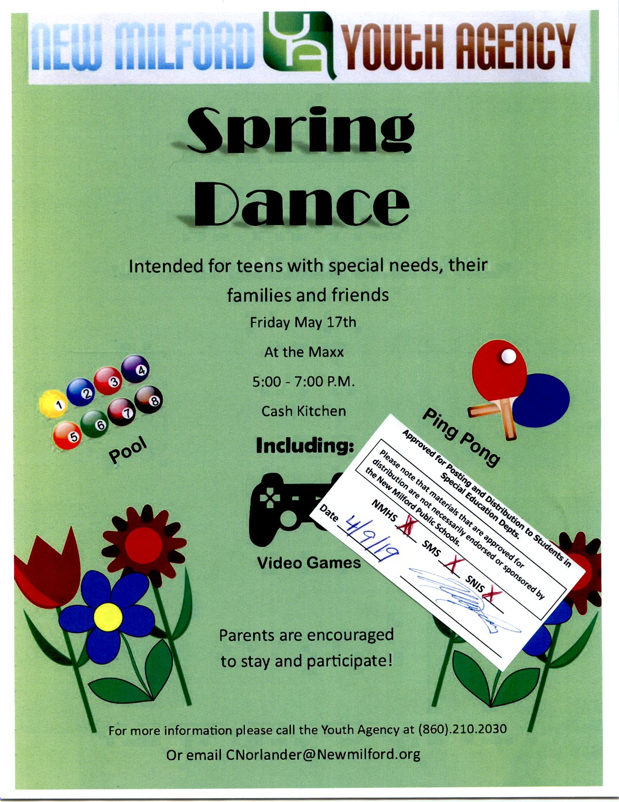 Online Handbook For Special Needs >> New Milford High School Spring Dance For Teens With Special