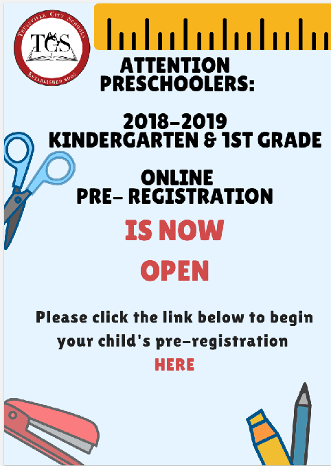 Pre-School Registration Link - Click Here