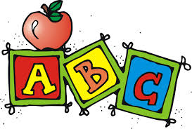 Apple with ABC blocks