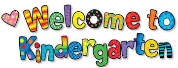 Welcome to Kindergarten with colorful letters