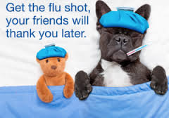 Get the flu shot, your friends will thank you later.