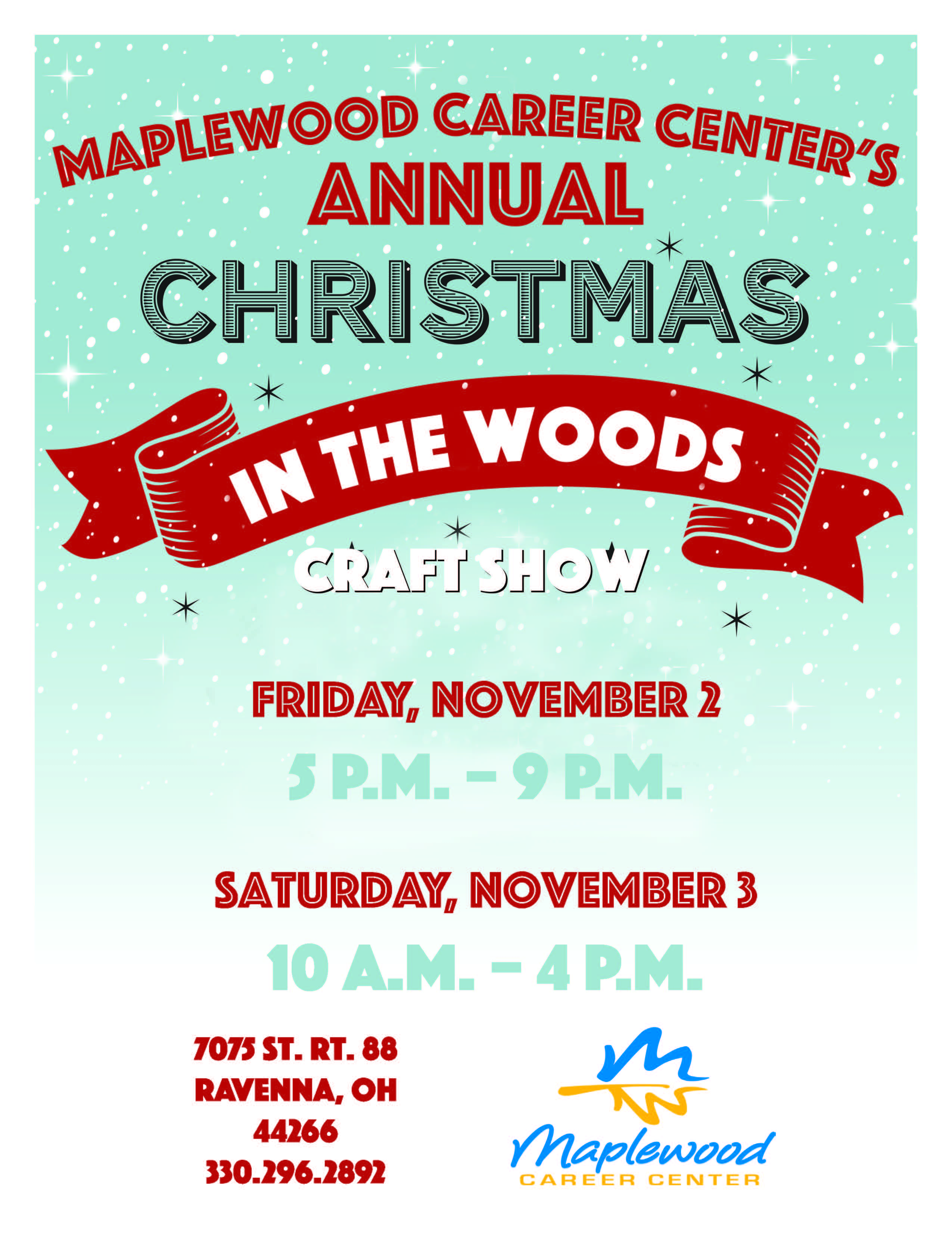 Maplewood Career Center's Annual Christmas In The Woods Craft Show