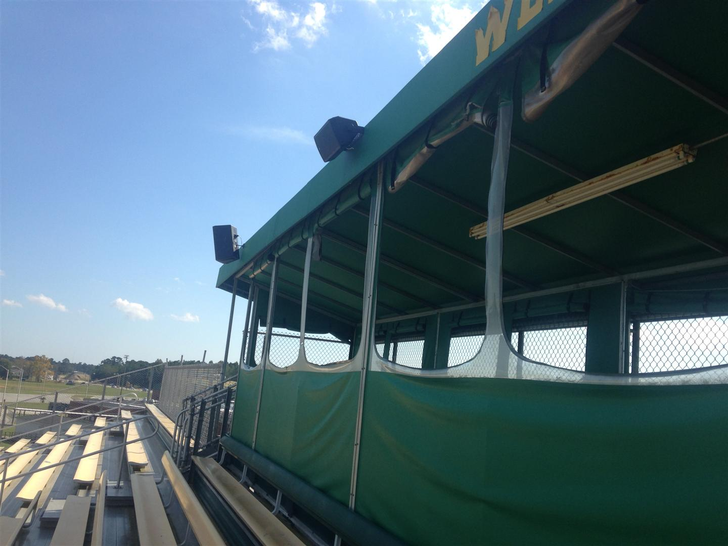 Speaker System Purchased by Athletic Boosters, Band Boosters, and WOHS