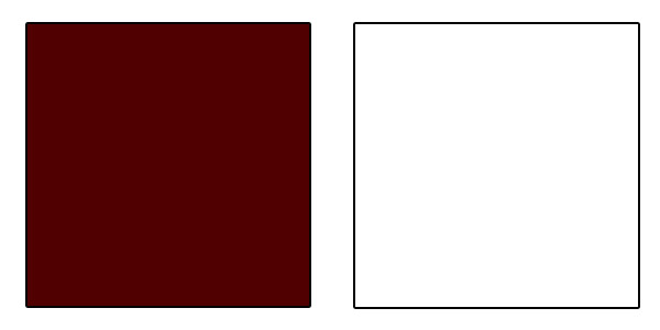Maroon and White color sample