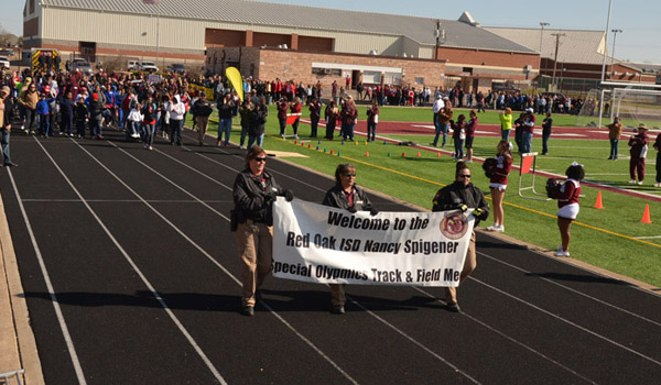 special olympic opening ceremony at Goodloe Stadium