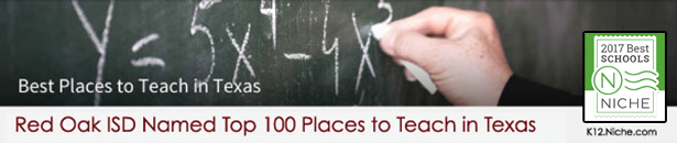 Niche Award-Red Oak Top 100 Places to Teach in Texas